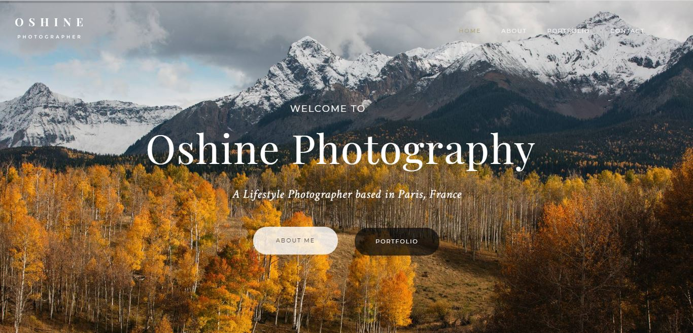 Oshine Free theme